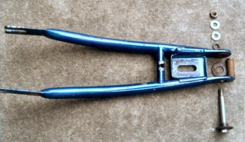 Top view of rear fork