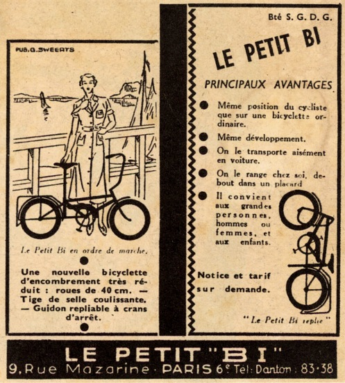 Press advert for the original version of Le Petit Bi