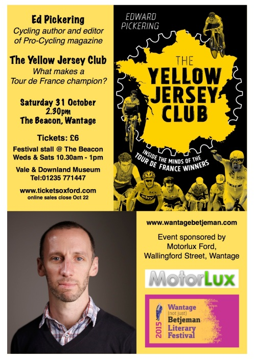 Poster for Yellow Jersey Club talk