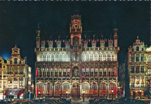 1966 approx postcard, Brussels Grand'Place